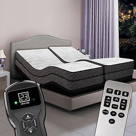 Split King Digital Visions™ Premium Pillowtop Air Bed & Dual Luxury Adjustable Powerbases™