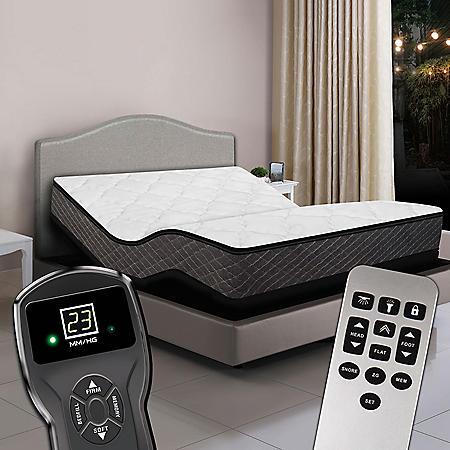 Queen Dual Digital Princeton™ Premium Plush Top Air Bed & Luxury Adjustable Powerbase™