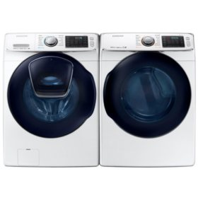 SAMSUNG AddWash Front Load Washer and Electric Dryer  - White - WF45K6500AW, DV45K6500EW