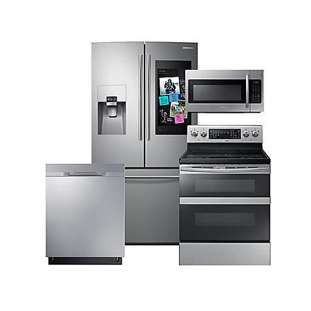SAMSUNG Family Hub ™ Refrigerator, Range, Microwave, and Dishwasher Package - (CHOOSE: Color, Fuel Type, Range Type, Dishwasher Type)
