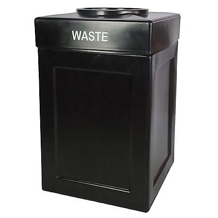 Forte Droptop Waste Receptacle (Black)