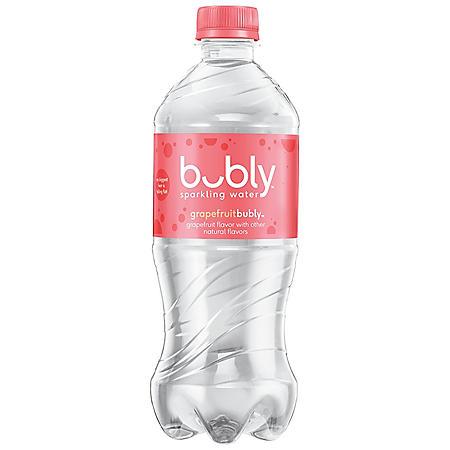 Bubly Sparkling Water, Grapefruit, Single Bottlle (20 fl. oz.)