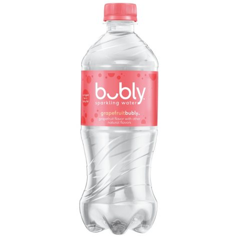 Bubly Sparkling Water, Grapefruit, Single Bottlle (20 fl. oz.)