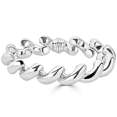 San Marco Chain Bracelet  in Italian Sterling Silver