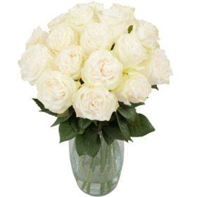 Purity Garden Rose Bouquet
