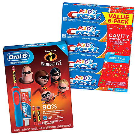KIds Incredibles Toothbrush and Toothpaste Gift Set