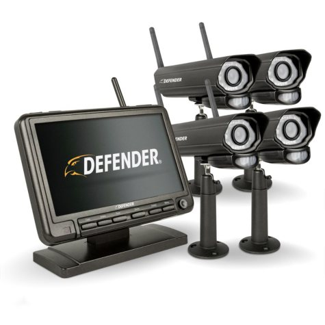 """Defender® PHOENIXM2 Digital Wireless 7"""" Security System with 4 Cameras"""