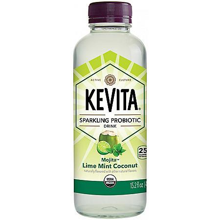 KeVita Sparkling Probiotic Drink, Mojita Lime Mint Coconut (15.2 fl. oz.)