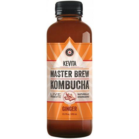 KeVita Master Brew Kombucha, Ginger (15.2 fl. oz.)