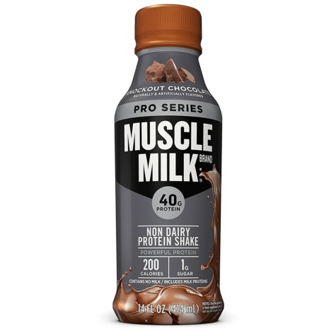 Muscle Milk Pro Series Protein Shake, Knockout Chocolate (14 fl. oz.)