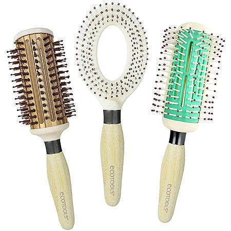 EcoTools Air Dryer, Large Thermal, Half Round Best Hair Day Brush Collection