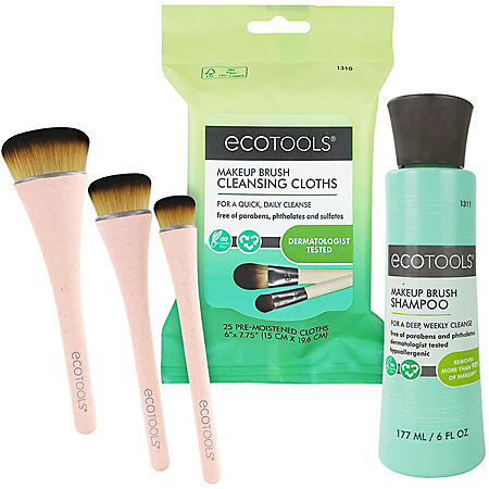 The EcoTools Foundation Brush and Cleansing Kit