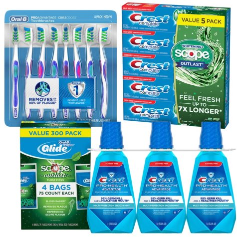 Crest Family Oral Care Kit (Medium Brushes)