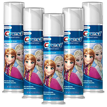 Crest KIds Toothpaste Disney Frozen (4.2 oz., 5 pk.)