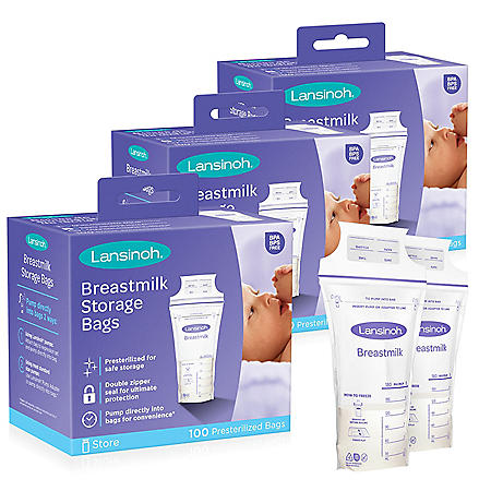 Lansinoh Breastmilk Storage Bags Bundle, 300 ct.