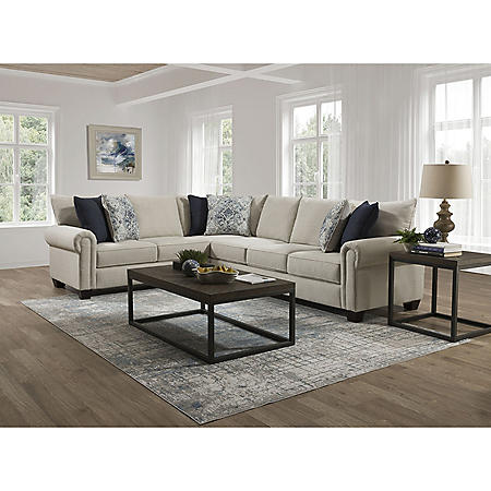 Taylor 2-Piece Sectional with Accent Pillows