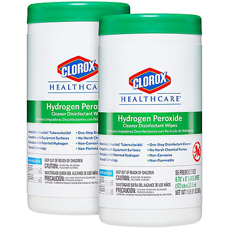 Clorox Hydrogen Peroxide Disinfecting Wipes (Choose Your Count)
