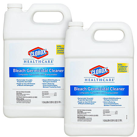 Clorox Healthcare Bleach Germicidal Cleaner, Gallon (Choose Your Count)