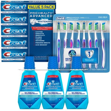 Crest Oral Care Health Kit 3-pc. (Choose Soft or Medium)
