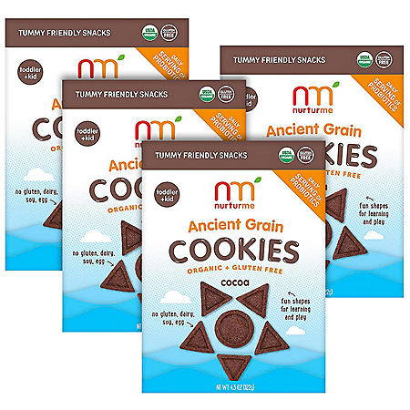 NurturMe Organic Ancient Grain Cookie Bundle, Cocoa (4.3 oz., 4 pk.)