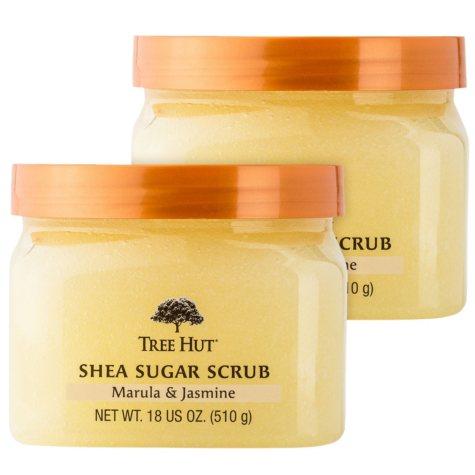 Tree Hut Shea Sugar Scrub, Marula & Jasmine (18 oz., 2 pk.)