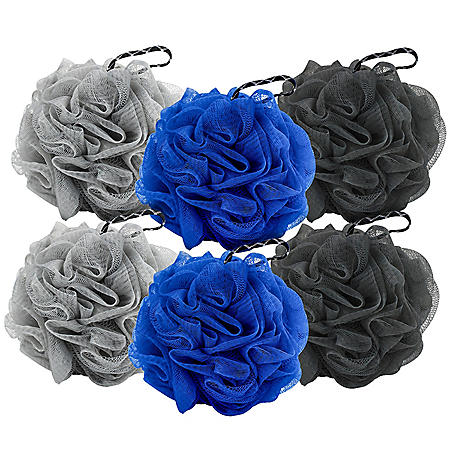 Body Benefits Mens XL Shower Pouf Assorted Colors (6 ct.)