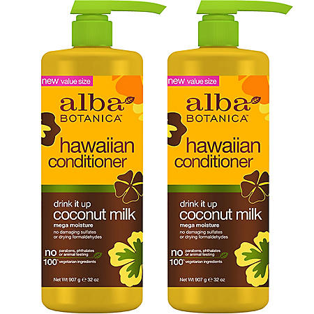 Alba Botanica Hawaiian Drink It Up Coconut Milk Conditioner ( 32 fl. oz., 2 pk.)