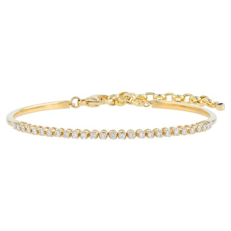 S Collection 1/2 CT. T.W. Diamond Adjustable Chain Bracelet in 14K Yellow Gold