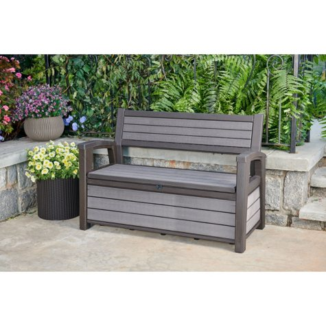 Keter Hudson Plastic Storage Bench Deck Box