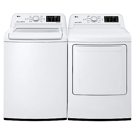 LG Side-bySide Laundry Pair in White