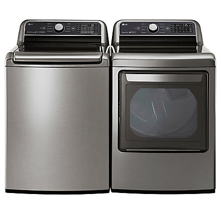 LG Side-by-Side Laundry Pair in Graphite