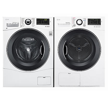 Lg Wm1388hw Dlec888w Compact Fl Washer And Stackable