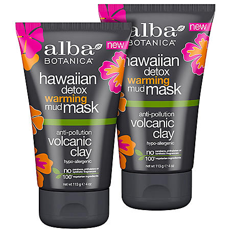 Alba Botanica Hawaiian Detox Warming Mask (4 oz., 2 pk.)
