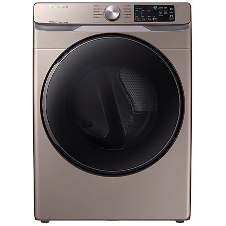SAMSUNG 7.5 cu. ft. Front Load Dryer with Steam Sanitize+ - DVG45R6100 / DVE45R6100 (Choose Fuel Type / Color)