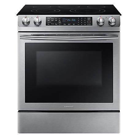 SAMSUNG 5.8 cu. ft. Slide-In Electric Range - Stainless Steel - NE58K9430SS