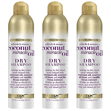 OGX Extra Strength Refresh and Restore Coconut Miracle Oil Dry Shampoo (5 oz., 3 pk.)