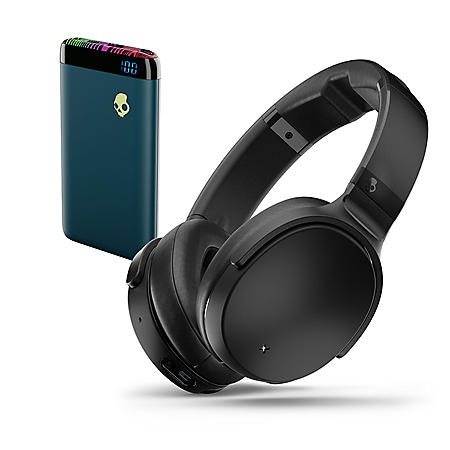 Skullcandy Venue Wireless Over Ear Headphones & Stash Power Bank Bundle