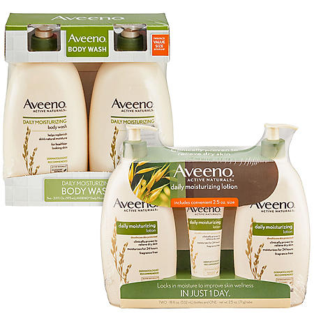 Aveeno Daily Moisturizing Body Wash and Lotion