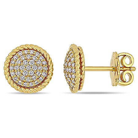 0.31 CT. T.W. Diamond Circular Stud Earrings in 14K Gold