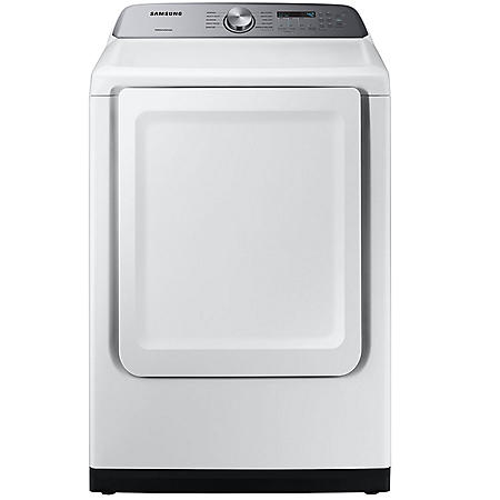 Samsung 7 4 Cu Ft Top Load Dryer With Sensor Dry White