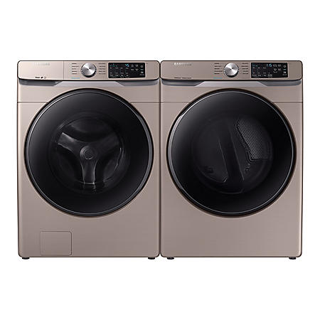 Samsung Side-by-Side Laundry Pair in Champagne