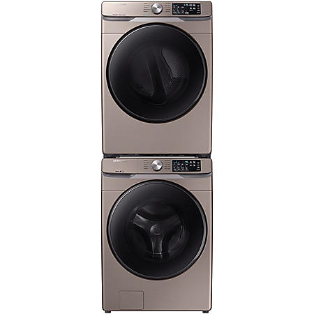 SAMSUNG Stackable 4.5 cu. ft. Front Load Washer & 7.5 cu. ft. Dryer - Champagne