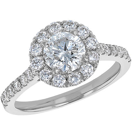 S Collection Bridal 1.75 CT. T.W. Diamond Halo Ring in 14K Gold (SI2, H-I)