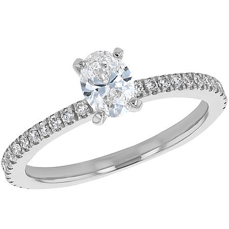 S Collection Bridal 0.75 CT. T.W. Oval Diamond Ring in 14K Gold (SI2, H-I)
