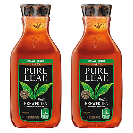 Pure Leaf Unsweetened Black Tea (59 fl. oz., 2 pk.)