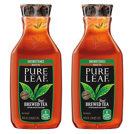 Pure Leaf Unsweetened Black Tea (59 fl. oz., 2 pk.)