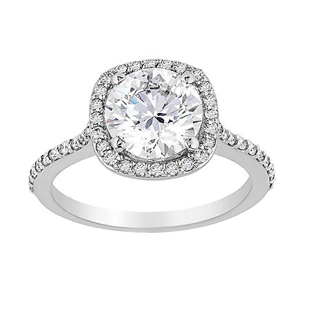 2.32 CT. T.W. Diamond Bridal Ring in 18 Karat White Gold (D-F, VS2)