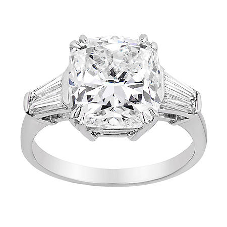 6.24 CT. T.W. Diamond Bridal Ring in 18 Karat White Gold (Center: K, VS2)