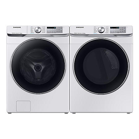 SAMSUNG 4.5 cu. ft. Front Load Washer & 7.5 cu. ft. Dryer - White