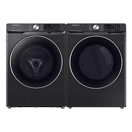 SAMSUNG 4.5 Cu. Ft. Front Load Steam Washer 7.4 Cu. Ft. Dryer with Multi-Steam Technology Suite - WF45R6300, DVE45R6300 / DVG45R6300 (CHOOSE: Color, Display, Fuel Type)